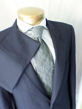 DANIEL HECHTER navy dark blue pinstripe wool soft roll dual vent suit 34 40L