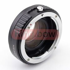 Focal Reducer Speed Booster Adapter Nikon F G lens to Micro 4/3 M43 mount E-PL6
