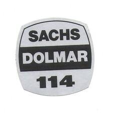 Sachs-Dolmar 114 Original Typ Aufkleber f. Kettensäge decal chainsaw sticker