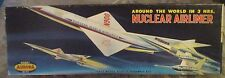 RARE! VINTAGE [1959] AURORA NUCLEAR AIRLINER IMPETUS 1/200 + REPRODUCTION DECALS