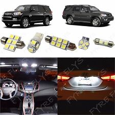 12x White LED lights interior package kit for 2003-2014 Toyota 4Runner T41W