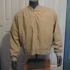 Mens Vintage 1970's Sears Work Shop Car Coat Jacket Lined Khaki Size XL Tall EUC