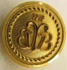 Gold Brooks Brothers 1818 Country Club Gold Finish Brass Blazer Button Sleeve