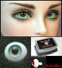 1/3 1/4 bjd 14mm green with burgundy high quality glass doll eyes dollfie #TS-17