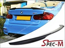 V Style Carbon Fiber Tail Wing Spoiler Lip For BMW 2015+ F80 M3 Sedan Only