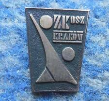POLAND district KRAKOW BASKETBALL FEDERATION 1970's PIN BADGE