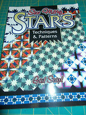 QUILT BOOK -SEW MANY STARS, TECHNIQUES & PATTERNS, AQS, 2000, FREE SHIPPING