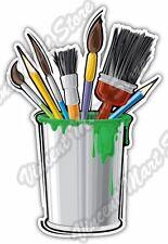 """Paint Paintbrush Bucket Art Artist Painter Car Bumper Vinyl Sticker Decal 4""""X5"""""""