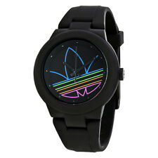 Adidas Aberdeen Black Dial Black Rubber Strap Mens Watch ADH3014