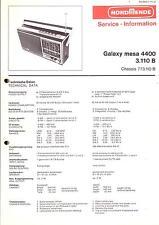 Nordmende manual de servicio para Galaxy mesa 4400 3.110b