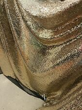 "2M BLACK /Gold TULE  FULLY  SEQUINED  SMALL SEQUIN BRIDLE DRESS FABRIC 58"" WIDE"