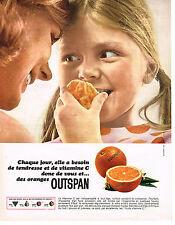 PUBLICITE ADVERTISING 044  1965  OUTSPAN  oranges vitamines C