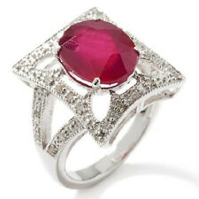 Rarities: Fine Jewelry with Carol Brodie Ruby and Diamond Sterling Silver Ring 6