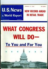 1957 U.S. News & World Report: What Congress Will Do To You/Record Retail Trade