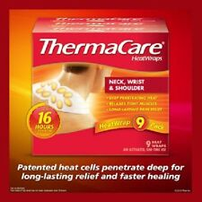 ThermaCare HeatWraps Neck Shoulder and Wrist Wraps 9 Wraps Heat Discs -  NEW