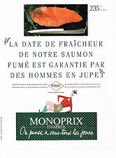 PUBLICITE ADVERTISING 064  1989  MAGASINS MONORIX   le saumon fumé