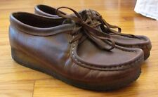 Clarks Original Wallabee Chuka Ankle Boot Shoes Brown Leather Men's 8.5D M EUC