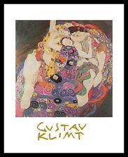 Gustav Klimt Die Jungfrau Poster Bild Kunstdruck im Alu Rahmen schwarz 30x24cm