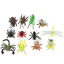 12× Plastic Insect Toys 3-5cm Long Flying Bug Spider Wasp Ladybird Ant Mold Toys
