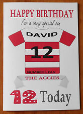 """HAMILTON FAN Unofficial PERSONALISED Football Birthday Card (""""THE ACCIES"""")"""