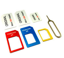 Nano SIM Card to Micro Standard Adapter Adaptor Converter Set for iPhone 6 5 4