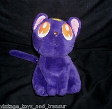 "8"" 1998 SAILOR MOON PURPLE LUNA KITTY CAT STUFFED ANIMAL PLUSH TOY SOFT DOLL"
