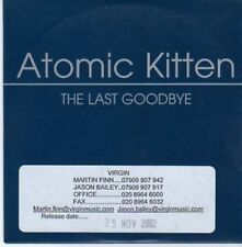(BG147) Atomic Kitten, The Last Goodbye - 2002 DJ CD