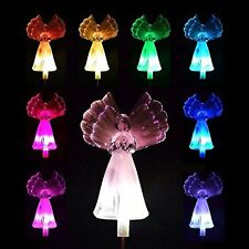 Solar Angel Fiber Optic Wing Light, Frosty Snow White,color changing LED Lamp