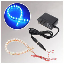 Fish Tank Aquarium 24 LED Blue Moonlight Flexible Strip Light Lamp Waterproof