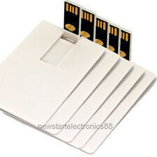 Lot 5 2GB 2G Credit Card USB Flash Drive Blank DIY Memory Stick Wholesale Bulk