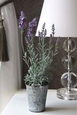NEW ARTIFICIAL SILK FLOWER LAVENDER POTTED PLANT ARRANGEMENT IN POT REALISTIC