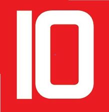 No 10 Manchester United 1982-1984 European Football Nameset for shirt