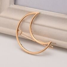 Sailor Moon Girl's Crescent Moon Hair Clip Anime Lady Silver Gold Plated Hairpin