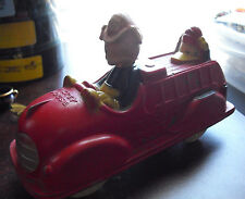 Vintage 1930s Sun Rubber Co Mickey Mouse Fire Truck Porky Pig Donald Duck LOOK