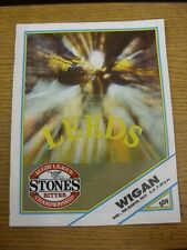 11/03/1987 Rugby League Programme: Leeds v Wigan  . Thanks for viewing this item