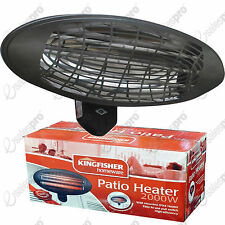 2000w Kingfisher Patio Heater wall mounted IPX4 rated BS plug included