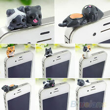 6X Cute Cheese Cat Anti Dust Earphone Jack Plug Stopper Cap For Iphone Cellphone