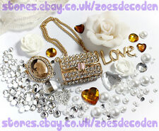 3D DIY Mobile Cell Phone Case gold purse handbag Crystal cabochon Deco Den Kit