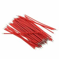 200pcs Motherboard Breadboard Jumper Cable Wires Experiment Test Tinned 6cm Red