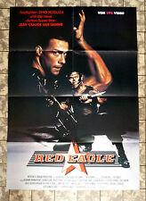 RED EAGLE * Van Damme, Shô Kosugi - A1-VIDEO-POSTER Ger 1-Sheet ´88 BLACK EAGLE