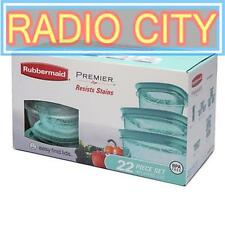 Rubbermaid Premier 22-pc Piece Storage Container Set BPA-free Plastic Teal Green