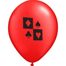 Casino Card Night Party - Casino Red & White Latex Balloons - Free Post in UK