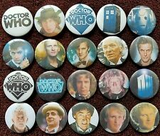 Dr Who Button Badges x 20.  Pins. Wholesale. Collector.  Bargain :0)