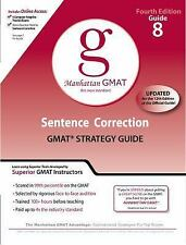 Sentence Correction GMAT Preparation Guide, 4th Edition (8 Guide Instructional S