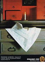 PUBLICITE ADVERTISING   1965   FRANC OR   parure de lit linge de maison