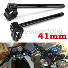7/8'' Universal Motorcycle CNC Aluminum Clip-on Handle Bars For 41mm Fork Tube