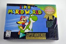 Super Mario World Super Nintendo Entertainment System SNES Brand New Sealed!