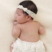Neue Baby Elastischen Spitzen Pearl Bogen BüNdchen Haarband Neugeborenen Foto
