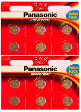 Panasonic CR2032 Specialist High Quality 3V Lithium Coin Batteries Pack of 12