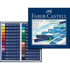 #127024 Faber Castell Box of 24 Oil Pastel Crayons Studio Quality Artists Colour